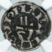 1200ad France Archbishopric Besancon Old Silver Denier Medieval Ngc Coin I87759