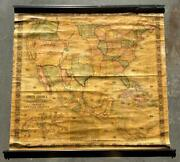 Original Antique 1851 Jacob Monk New Map Of That Portion Of North America Nice