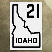 Idaho State Route 21 Highway Marker Road Sign 1926 Map