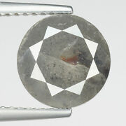 Big 3.80cts 9.1mm Steel Gray Natural Loose Diamond See Video