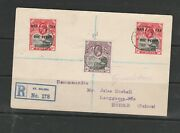 St Helena 1918 Registered Cover To Switzerland, With 2 X War Tax, Plus 8d Gv Def