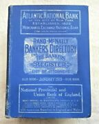-rare- 1919 Rand Mcnally Bankers Directory With List Of Attorneys Blue Book