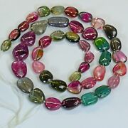 200ct Large Multi Color Tourmaline Smooth Nugget Beads 19.8 Strand