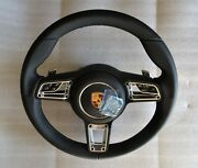 991.2 Pdk Multi Function New Style Blk Leather Steering Wheel And A-bag Fit 991.1