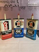 Lot Of 3 Vintage 3 In 1 Handy Oil Cans 3 Oz All Have Some Contents