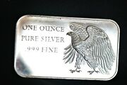 Rare Missing S/n 1776-1976 Eagle 200 Years Of Independence 1 Oz .999 Silver Bar