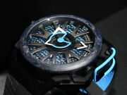 Mazzucato Reversible Monza Menand039s Automatic Watch Blue Limited Edition Rare