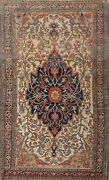 Pre-1900 Vegetable Dye Antique Farahan Sarouk Area Rug Hand-knotted Wool 4and039x7and039