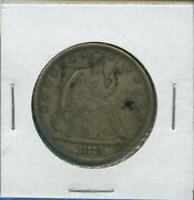 1875 S Seated Liberty Half Dollar Us Silver Coin Rare 1875-s Holed