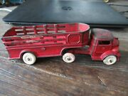 Kenton Cast Iron Toy Semi Truck Tractor And Trailer