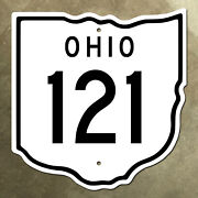 Ohio State Route 121 Highway Marker Road Sign Diecut Map Outline