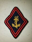 K1079 Indochina France French Army Colonial Troops Anchor Patch Nco Officers L3b