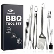 Heavy Duty Bbq Grilling Tool Sets, Extra Thick Stainless Steel Spatula, Tongs