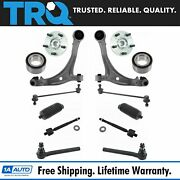 Trq 14pc Suspension Kit Wheel Hubs Bearings Tie Rods Control Arms End Links