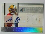 2005 Aaron Rodgers Upper Deck Spx Roockie 223 Rc Auto Jersey 044/250