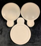 3 Pyrex Corning Ware Grab-it Bowls P-150- B With P-150-pc Fitted Plastic Lids