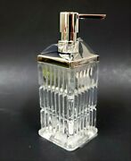 New Simple Choice 3d Glass Crystal Vertical Stripes Soap Dispensersilver Chrome