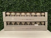 Casa Decor Ceramic Drawer Cabinet Pulls Knobs 2 Sets Of 8 - 16 Total New In Box