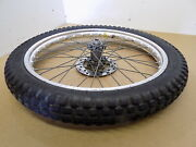 1990-93and039 Beta Trials Zero 260 / Oem 21 Akront Front Wheel With Rotor