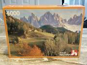 New In Package Nathan Jeux 4000 Piece Puzzle Contrast Extremely Rare Vintage