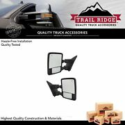 Trail Ridge Tow Mirror Power Fold Extend Heated Memory Turn Smooth Pair For Ford