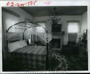 1978 Press Photo Bedroom Includes 1810 Sheraton Bed And American Federal Antiques