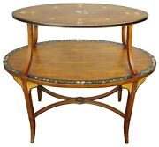 Sarreid Edwardian Oval Tray Top Andeacutetagandegravere Table Sheraton Revival Floral Painted 35