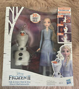 Disney Frozen Talk And Glow Olaf And Elsa Dolls Remote Control 20+ Sounds New