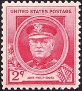 1940 John Philip Sousa Mh Stamp From Usa