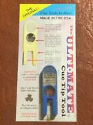Ultimate Tip Tool Blue. Comes With Free Replacement Abrasives. Pool Cue Care.