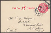 1938 Ireland / Eire 1d Red Stationery Postcard To East Molsey, Surrey