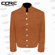 Us Civil War Csa Plain Shell Jacket 7 Csa Buttons - All Sizes And Colors
