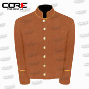 Us Civil War Cs Multi Color Pipping Trim Butternut Wool Shell Jacket All Sizes