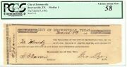 Texas C.s.a. State Brownsville City Of M-01 50 Cents March 8 1862 Pcgs58