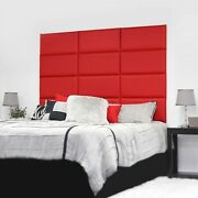 12 Piece Upholstered Wall Panel Headboard Kit 72x 48 King Style 4