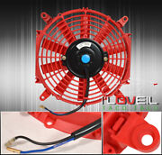 Universal 10 Inch Eletric Fan 12v Push Pull Radiator Engine Cooling Blades Red