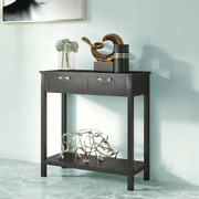 2 Drawers Accent Console Entryway Storage Shelf