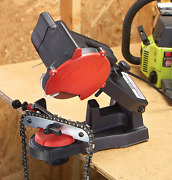 Grip-on Electric Chainsaw Sharpener Mounts On Wall, Bench, Vise 4,200 Rpm 120v