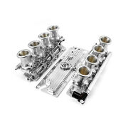 Chevy Gm Ls1 Downdraft Efi Stack Intake Manifold System Complete [polished]