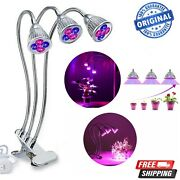 Led Grow Light Growing Lamp Full Spectrum For Indoor Plant Hydroponic Kit 3 Head