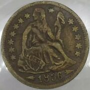 1856 Seated Liberty-800/blank-0a R-8 U. S. Counter