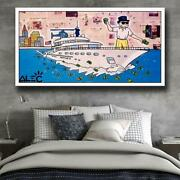 Alec Monopoly Wolf Of Wall Street Canvas Painting Prints Living Room Home Decor