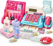 Kids Toy - Cash Registers Make Up Toys With Scanner Pretend Shopping - Girls