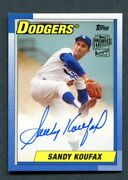 2017 Topps Archives Sandy Koufax Signed Auto Sp Los Angeles Dodgers Hof