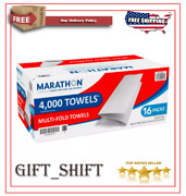 Marathon Multifold Paper Towels, White, 4000 Towels Per Case =free Shipping=