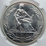 1980 Europe European Currency Unit Fantasy Proof-like Silver Ecu Coin Ngc I87822