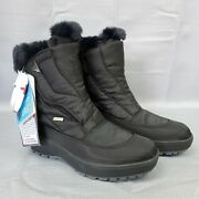 Pajar Kimmi 2 Faux Fur Lined Black Waterproof Winter Boots Womenand039s Size 6-6.5