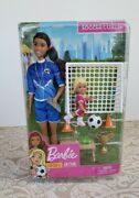 Barbie 2019 Soccer Coach Career Playset Dolls Aa Doll Toy New Accessories