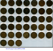 Set Of Canada Large Cents Coin 1859 - 1920. Canadian Pennies +3 Rj