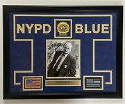 Dennis Franz Nypd Blue Andy Sipowicz Autograph Signed Framed Photo Collage Jsa